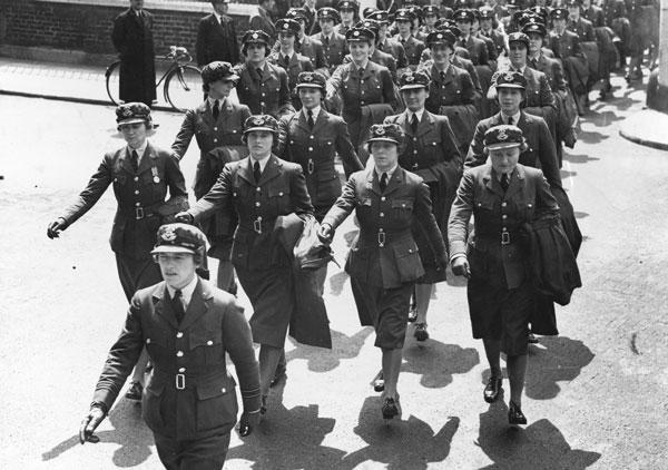 Jane Trefusis Forbes leading the WAAF on parade