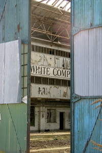 Glimpses of the past - the view into the derelict Grahame-White Factory