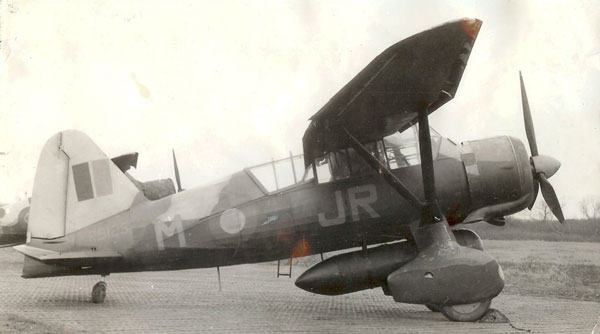Wartime image of the RAF Museum's Westland Lysander R9125