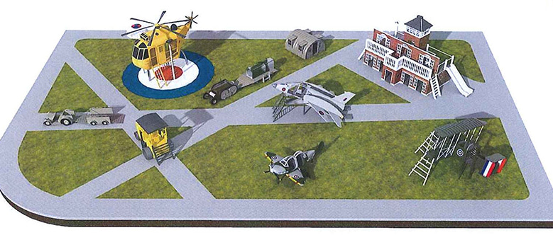 The project of the playground at the RAF Museum London
