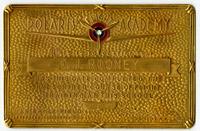 Polaris Flight Academy commemorative certificate