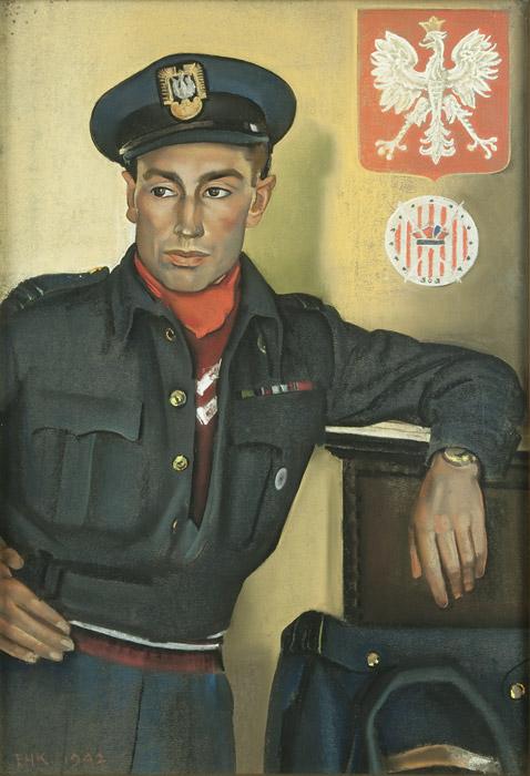 Squadron Leader Wojciech Kolaczkowski DFC by Eric Kennington, 1941