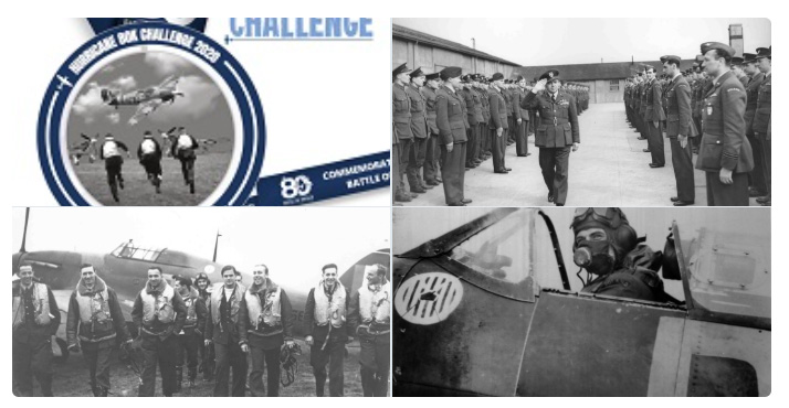 A montage of images showing Polish Pilots, the Hurricane80K Challenge and members of 303 Polish Squadron.