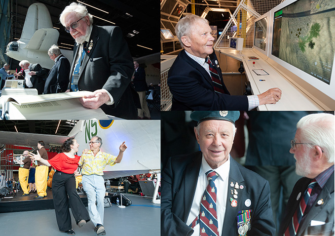 Our guests for the RAF Day at the RAF Museum, veterans and currently serving RAF personnel