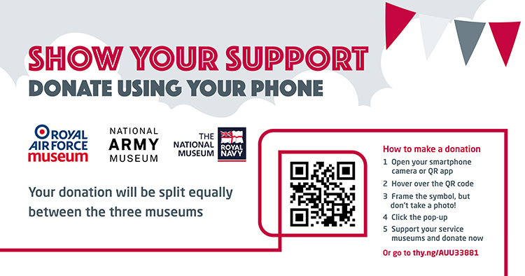 Show us your support by making a donation to all three museums