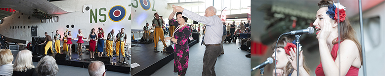 Musical Performance from The Jive Aces accompanied by two of The Satin Dollz, The Duettes and one half of The Twin Swing