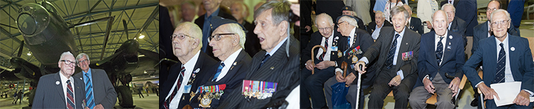 The veterans of the Bomber Command on the RAF Day at the RAF Museum