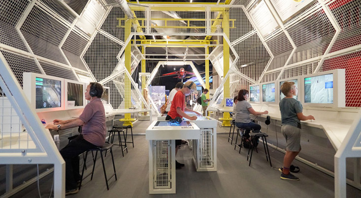 RAF First to the Future being used by visitors