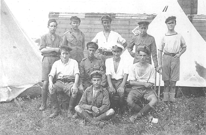 RAF personnel under warm conditions in South Russia