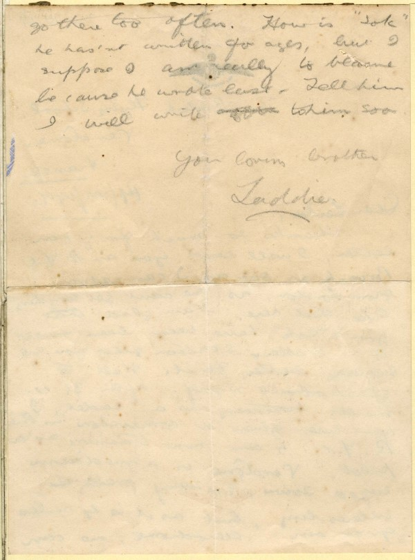 DC70/4: Letter from 2Lt Roy at the British Flying School, Vendôme, to his sister, Leila, 14 July 1917