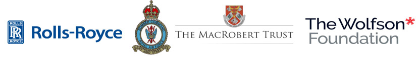 The Rolls Royce Logo, Bomber Command Association Logo, The Mac Robert Trust logo, The Wolfson Foundation Logo