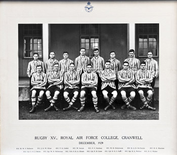 Rugby XV, Royal Air Force College Cranwell, 1929