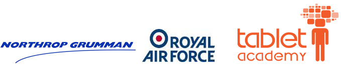 Our partners in delivering the STAAR Programme - Northrop Grumman, the Royal Air Force, and Tablet Academy