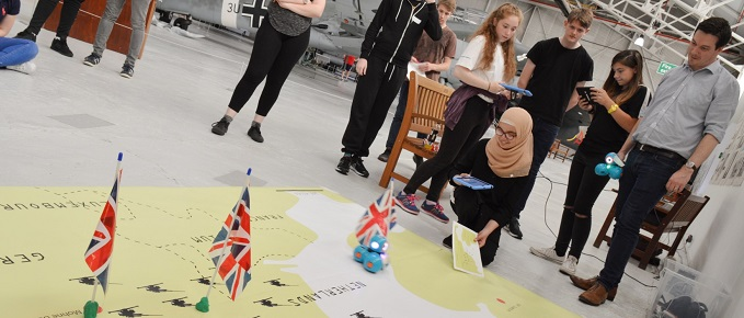 Developing strategy while working with robots!