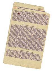 Douglas Bader - Secret letter from Colditz: back