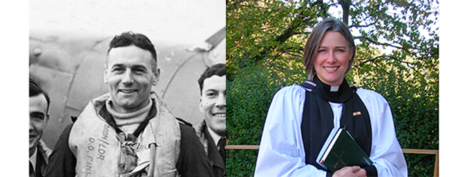 Group Captain Donald Osborn Finlay (Left) and the Reverend Eleanor Rance (right)
