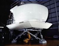 The hi-tech Hercules simulator at RAF Lyneham, 2001