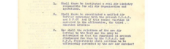 General Smurts' Report, 1 page, August 1917