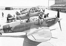 Spitfires being delivered to Russia