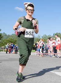Just one of our runners in Fancy Dress
