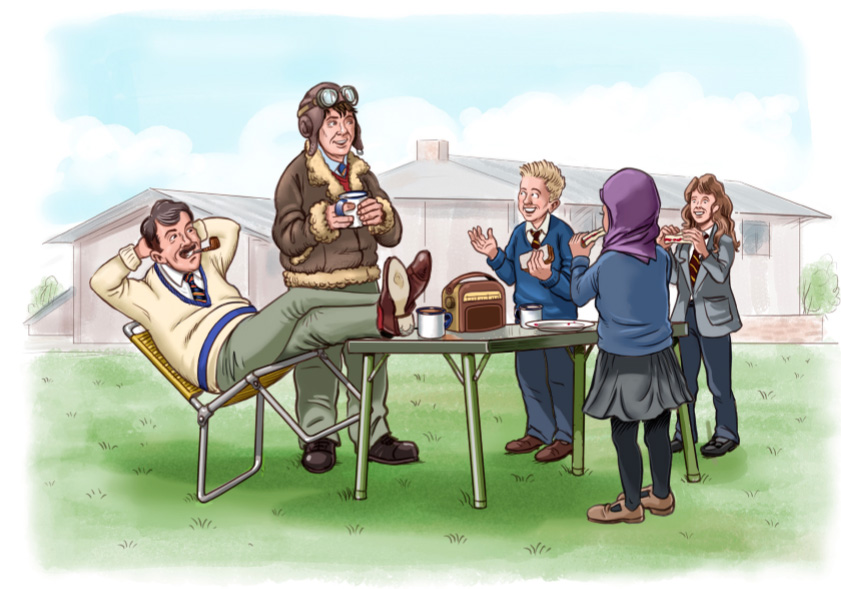 Join Danny, Yusra and Lily on their adventures in 1940 as they learn about the Battle of Britain