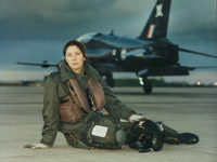 Trainee fast-jet pilot with a BAe Hawk, the RAF's primary jet trainer