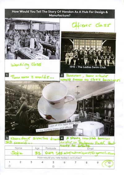A collage by Sofia from the RAF Museum about how tea was an important social equalizer in the past and present.