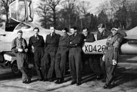 Trainees from 3 FTS looping in de Havilland Vampires, 1956