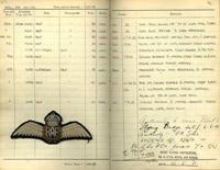 Pilot's Flying Log Book of Group Captain Frank D. Tredrey, 1926-1972