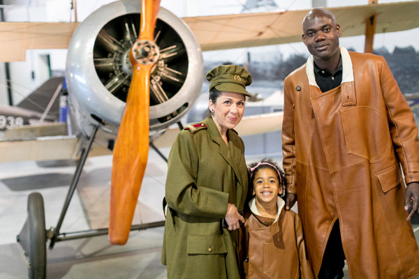 Try on a genuine First World War or Second World War RAF uniform