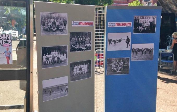 Display Panels showing historic photographs