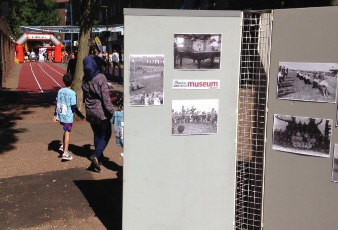 display by community stalls