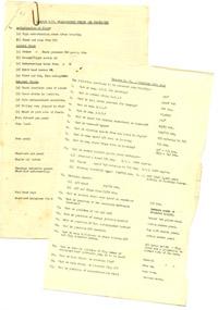 Training notes and quiz for the de Havilland Vampire aircraft, 1956
