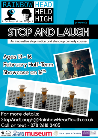 Poster for Stop and laugh project