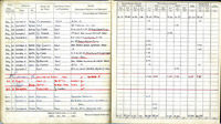 Extract from the flying log book of FS Curtis recording flights in an Airspeed Oxford, 1944