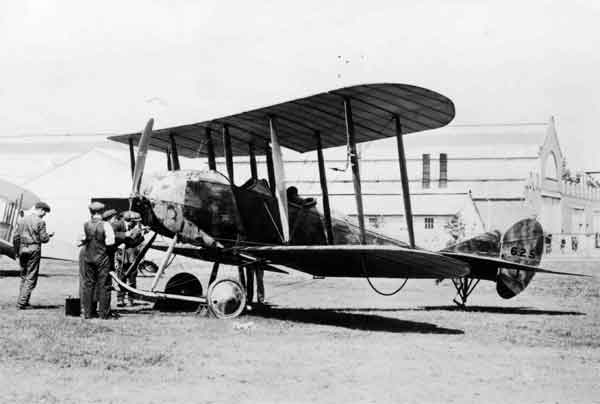 B.E.8, serial 625, at Farnborough, shortly before leaving for France in August 1914.
