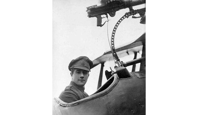 Major James Thomas Byford McCudden in a SE.5a aircraft