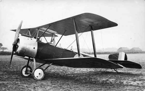 X003-2602/13916 Sopwith 1½ Strutter, serial N5220, port front view, 1916