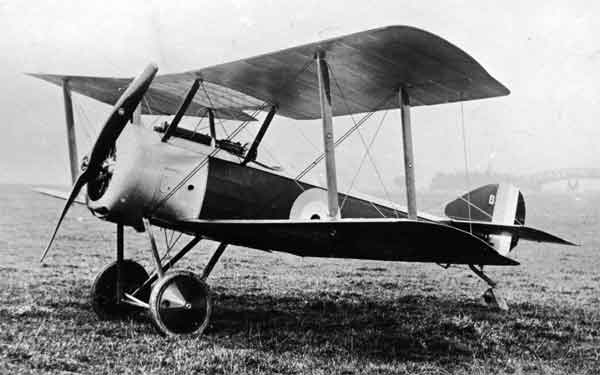 X003-2602/14286 Sopwith Pup, serial 9902, port front view, Beardmore Works, Dalmuir, 1916