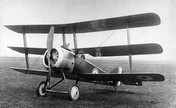 X003-2602/14651 Sopwith Triplane, serial N5350, built by Clayton & Shuttleworth, photographed in late 1916 or early 1917.