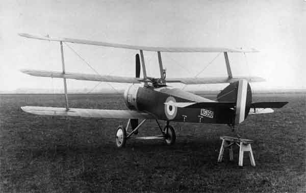 X003-2602/14652 Sopwith Triplane, serial N5350, built by Clayton & Shuttleworth, photographed in late 1916 or early 1917.
