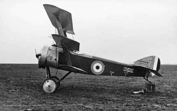 X003-2602/14663 Sopwith Triplane, serial N5459, port side view, 2 Aircraft Depot, Candas.