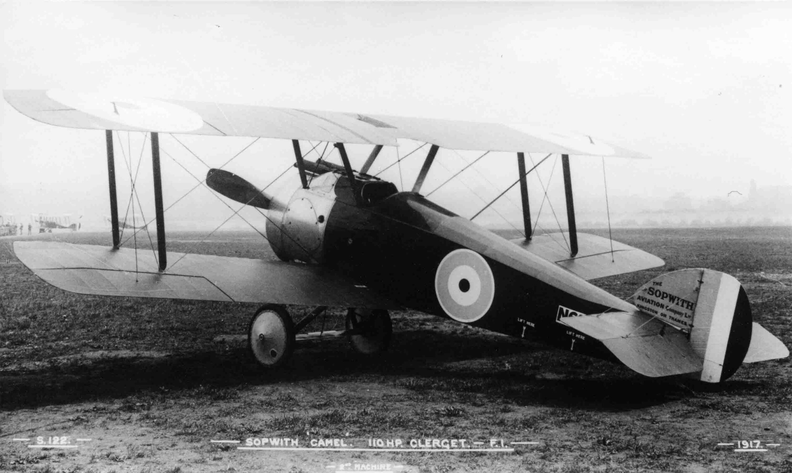 X003-2602-14910: This is almost certainly serial N6332 as seen above, Brooklands, 1917.  Two B.E.2cs can be seen in the background.