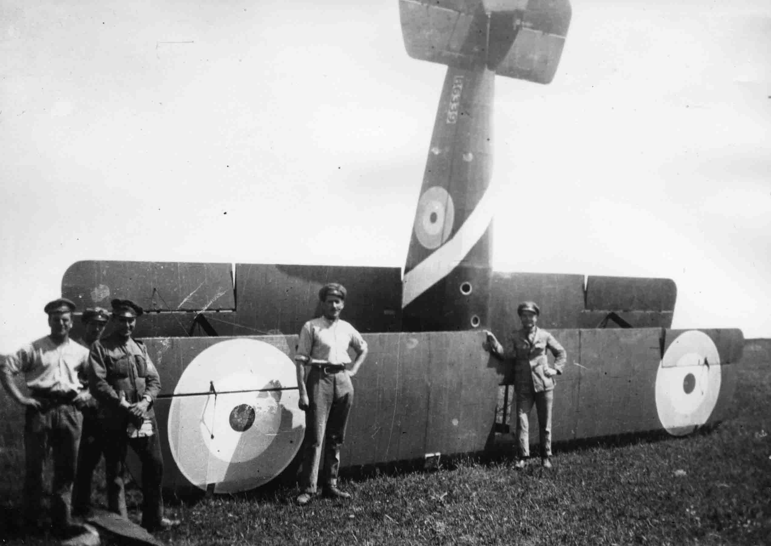 X003-2602/14939: Sopwith F.1 Camel, serial B6339, crashed, probably 225 Squadron, RAF, Italy, 1918.