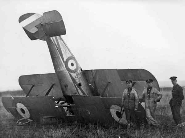 Sopwith 7F.1 Snipe, 19 Squadron, RAF.  The Snipe enjoyed a fairly long post-war service life.  This late-production example is believed to have crashed at Duxford in 1923 or 1924.