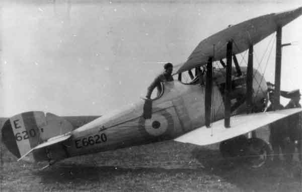 Sopwith 7F.1 Snipe Dual-Control Type, serial E6620, 1920s.  This COW-built late-production version example was one of those modified into a dual-control aircraft.