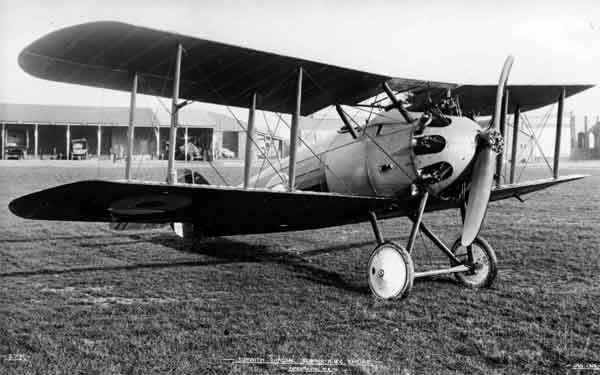 The prototype Sopwith Dragon, serial E7790, at Brooklands, January 1919.  The Dragon's outward similarity to the Snipe can be seen, as well as the lengthened rear fuselage.  The aircraft is finished in the AMA doping scheme.