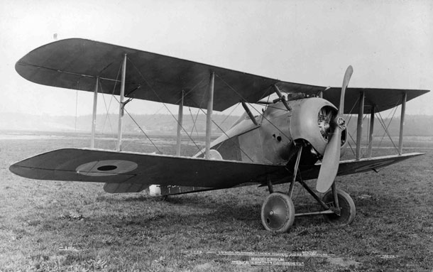 X003-2602/16482: The first prototype Sopwith TF.2 Salamander, serial E5429, at Brooklands in May 1918.
