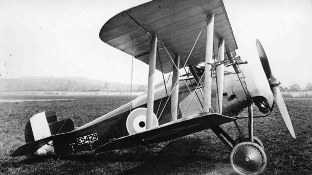 X003-2602/16483: The first prototype Sopwith TF.2 Salamander, serial E5429, at Brooklands in May 1918.