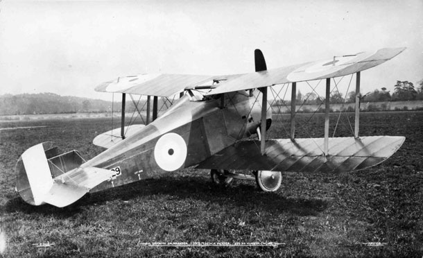 X003-2602/16484: The first prototype Sopwith TF.2 Salamander, serial E5429, at Brooklands in May 1918.